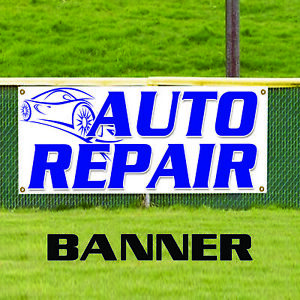 Auto Repair Foreign Domestic Workshop Outdoor Vinyl Banner Sign