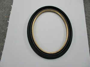 Oval Picture Frame Black Antique Gold 7 X 9 Plexiglass Included Free Shipping