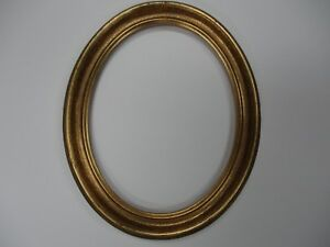 Oval Picture Frame Antique Gold 8 X 10 Plexiglass Included Free Shipping