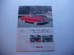 1953 Nash Airflyte Rambler large Full color Vintage 53 Ad From Private Estate