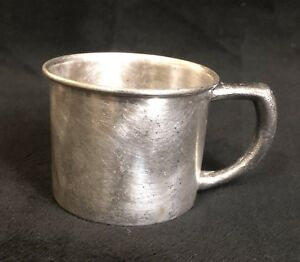 Old Benedict Silver Plated Engraved Baby Cup 1129 Epnsbmm Vintage Drinking Child