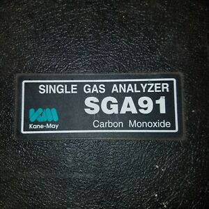 Kane May Sga91 Single Gas Analyzer Carbon Monoxide