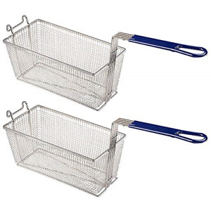 Pnr 13 1 4 X 6 1 2 X 6 Deep Fryer Basket With Non slip Handle Commercial Chip
