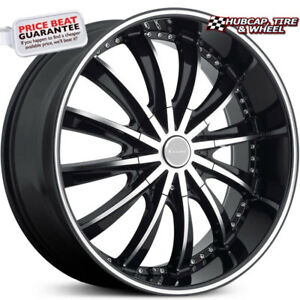 Elure 031 Black Machined Face Pinstripe 20 x8 5 Custom Wheels Rims