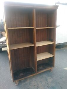 Antique General Store Display Fixture Cabinet Shelves Book Case Almost 7 High