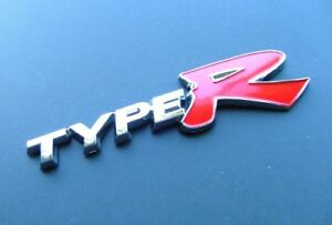 Type R Racing Emblem Sticker Decal Chrome For Civic Accord Acura Nsx Integra 3d