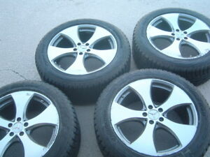 Hankook Studded Winter Snow Tires 265 50r20 On Mercedes Benz Ml Gl Gle Gls Rims