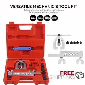 Double Flaring Brake Line Tool Kit Tubing Car Truck Tool With Pipe Cutter Be