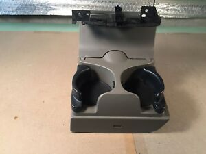 02 05 Oem Dodge Ram Front Dash Cup Holder Drink Assembly Fold Out Light Gray Tan