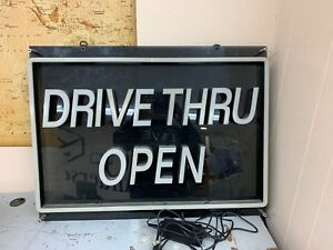 Drive Thru Open Light Up Sign
