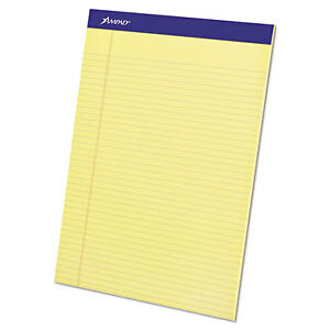 Perforated Writing Pad 8 1 2 X 11 3 4 Canary 50 Sheets Dozen 20 222 1