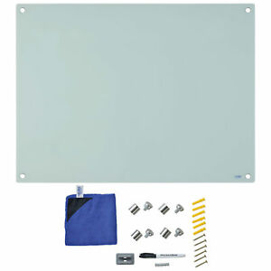 Magnetic Glass Dry Erase Whiteboard 48 X 36 White Lot Of 1