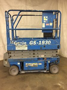 2000 Genie Gs1930 19 Electric Scissor Lift Aerial Manlift Platform 24v dc