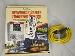 New Generator Safety Transfer Switch 2026 6 circuit 5000 Watts 20 Amps Cord