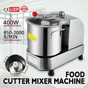Stainless Food Cutter Mixer 6l Dough Blender Food Processor Machine 110v
