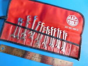 Used Mac Tools Ignition Wrench Set Lot Of 16 Wrenchs One Kit Bag Doubles