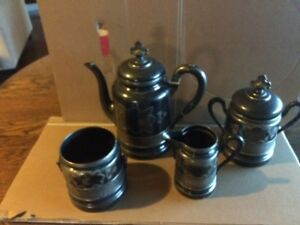 Antique Wilcox Silverplate Co Quadruple 4 Piece Coffee Set