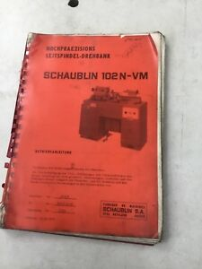 Schaublin 102 Lathe Service Manual German Edition