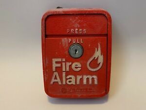 vintage rare Notifier Lng 1r Fire Alarm Pull Station