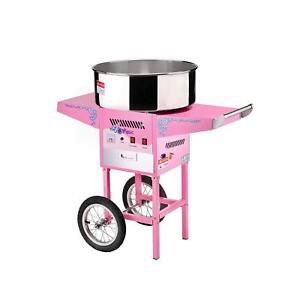 6304 Great Northern Popcorn Commercial Cotton Candy Machine Floss Maker W Cart