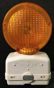 Vintage Road Construction Safety Barricade Warning Light Caution Power Flash