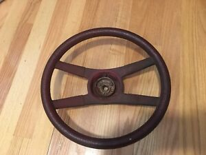 70s Camaro Z28 Oem Rope Style Steering Wheel Red 4 Spoke 70 81 Chevy