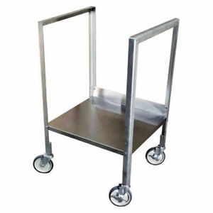 Mobile Stand For Stainless Steel Shop Desk 23 w X 35 1 2 h Gray Lot Of 1