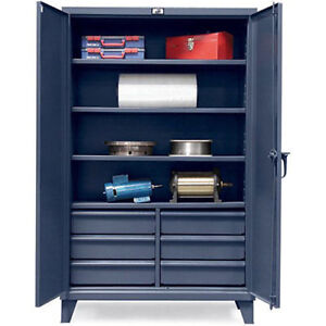 Strong Hold Ultra capacity Cabinet With Drawers 48x24x78 Lot Of 1