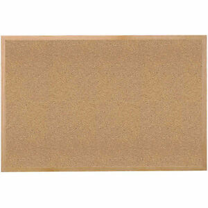 Ghent 174 Cork Bulletin Board Hardwood Oak 60 w X 48 h Lot Of 1
