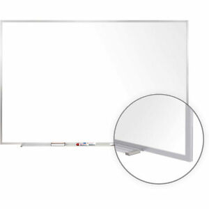 Ghent Porcelain Magnetic Whiteboard White 144 1 2 X 48 1 2 Lot Of 1