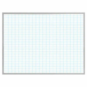Magna Visual Porcelain Whiteboard W 1 x2 Blue Grid White 48 X 36 Lot Of 1