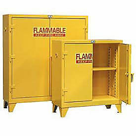 Heavy Duty Flammable Cabinet 30 5psc With Manual close Doors 30 Gallon Lot Of