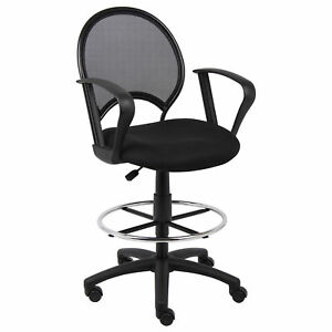 Mesh Back Drafting Stool With Loop Arms Lot Of 1