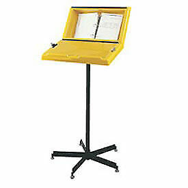Hubbell Information Stand With Three Ring Binder 26 w X 20 d X 39 h Yellow