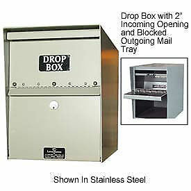 Jayco Standard Drop Box Locker 1 Incoming Slot And Envelope Slot Gray Lot Of
