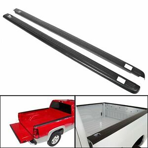 Black Bed Rail Caps Cover For 1999 2006 Chevy Silverado Sierra 6 6 Bed 72 01151