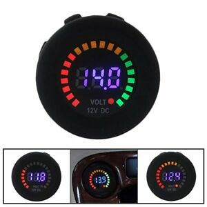 Waterproof 12v Led Car Van Boat Marine Voltmeter Voltage Meter Battery Gauge Be