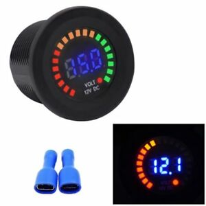 Mini 12v Led Car Van Boat Marine Voltmeter Voltage Meter Battery Gauge Be