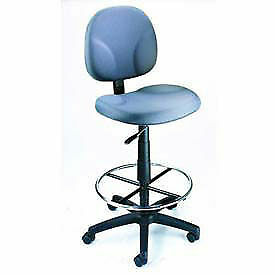 Drafting Stool With Contoured Back Footring Gray Lot Of 1