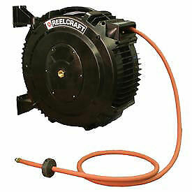 Retractable Composite Reel Air water Hose 3 8 X 50ft 232 Psi Lot Of 1