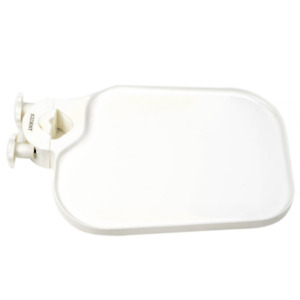 Dental Table Tray Post Mounted Plastic Dentist Chair Side Accessory White