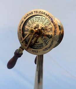 14 Brass Ship Telegraph With Both Side Sound Bell Fully Functional Gift Item