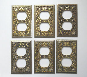 Vintage Outlet Plate Covers 6 Lot