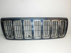 Jeep Grand Cherokee Wj 99 03 Blue Chrome Front Grill Grille Oem Free Ship