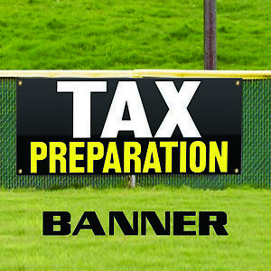 Tax Preparation Financial Charge Promotions Outdoor Vinyl Banner Sign