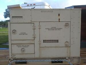 Mep804a 15kw 60hz Diesel Tactical Quiet Military Generator 33 Hrs
