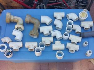 35 Pvc Fittings Plumbing Pool Spa 1 1 4 1 1 2 2 Inch Union Ell Reducer Tee