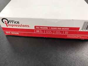 Sale Office Impressions Manila File Folders Legal 1 3 Tab 100 Count Pack Of 2