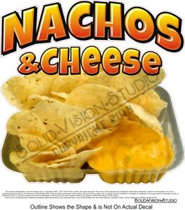 Nachos Cheese Chips Tray Photo Concession Trailer Food Truck Sign Menu Decal