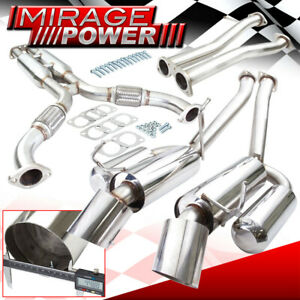 For 2003 2008 350z G35 High Flow Stainless Steel Exhaust System 4 5 Dual Tip